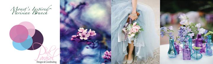 Monet Inspired Wedding Color Palette ; Parisian Brunch Wedding
